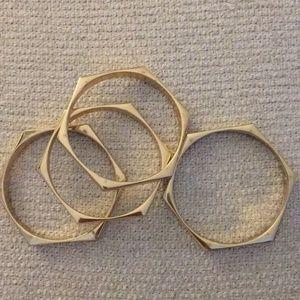 Set of 4 Gold Bangles